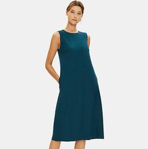 Eileen Fisher teal sleeveless dress